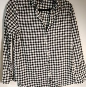 J. Crew Gingham Button Down Small